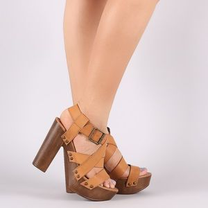 The Sundown Studded Chunky Platform Heel Sandal